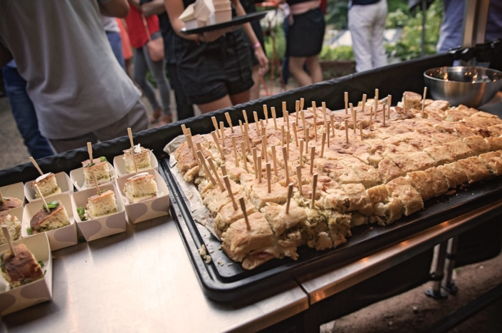 Ciabatta, cochon truffé, mozza, pesto cuit au smoker